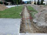 Zasypanie teplovodných potrubí pieskom
