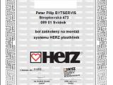 Certifikát - montáž systému Herz plasthliník